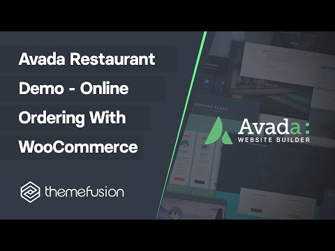 Avada Restaurant Demo - Online Ordering With WooCommerce Video
