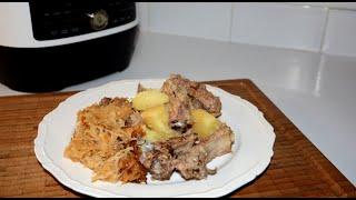Картофель с Рёбрами и Капустой в Мультиварке Скороварке Redmond RMC P350 Рецепты в мультиварке скоро