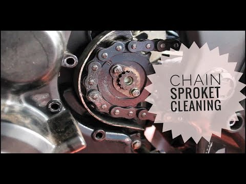 CHAIN SPROCKET CLEANING IN BIKES (മലയാളം)