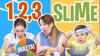 1, 2, 3 ¡¡SLIME!! Juego del Slime casero // Familukis