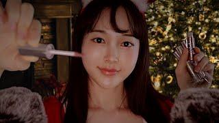 ASMR 메리크리스마스 반짝반짝 립글로스 바르며 100…