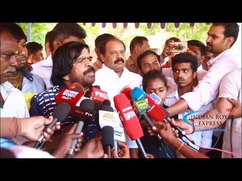 Indian film actor and  LDMK Party Leader T  Rajendar voice Law College Students Protest