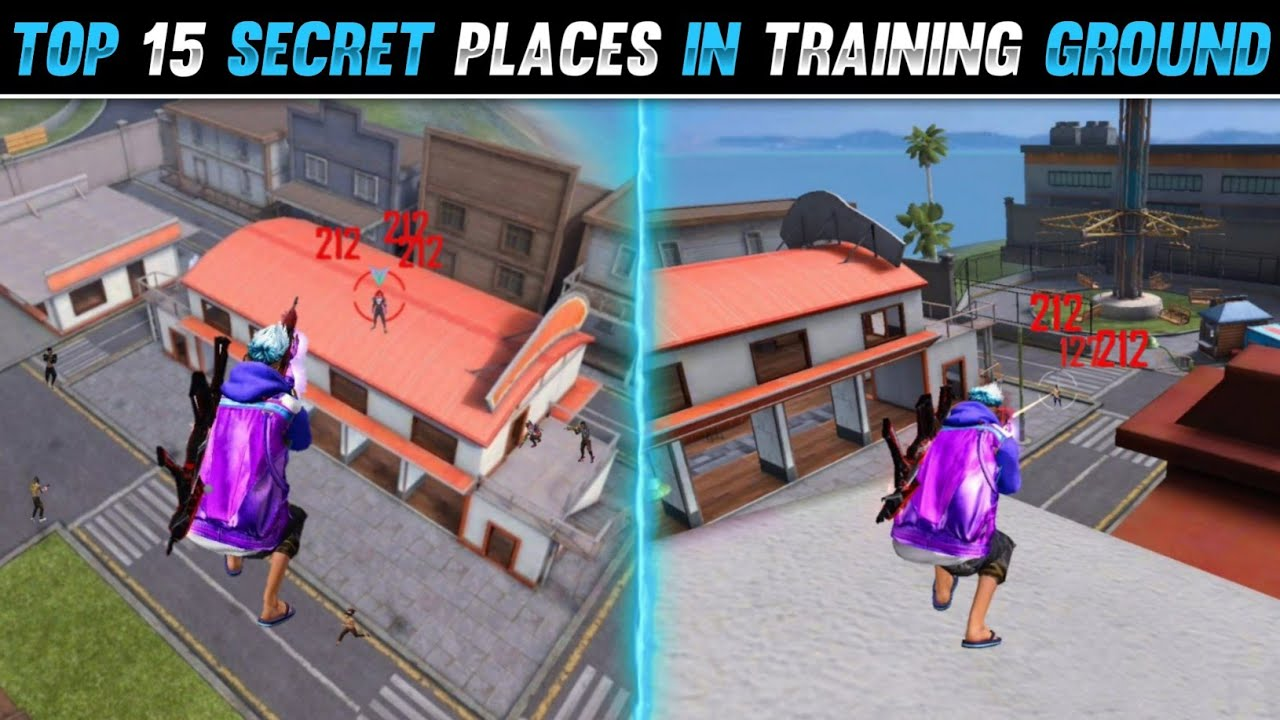 Download TOP 15 HIDDEN PLACES IN TRAINING GROUND | TRAINING GROUND SECRET PLACES - FREE FIRE TIPS AND TRICKS