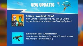 *NEW* GIFTING SYSTEM OFFICIAL RELEASE DATE! (Fortnite Season 5 Gifting Skins)