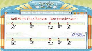 Roll With The Changes - REO Speedwagon - Guitaraoke, Chords & Lyrics, Lesson - playwhatyoufeel.com