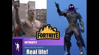 Real life Fortnite dance - Intensity ( Techno Viking )