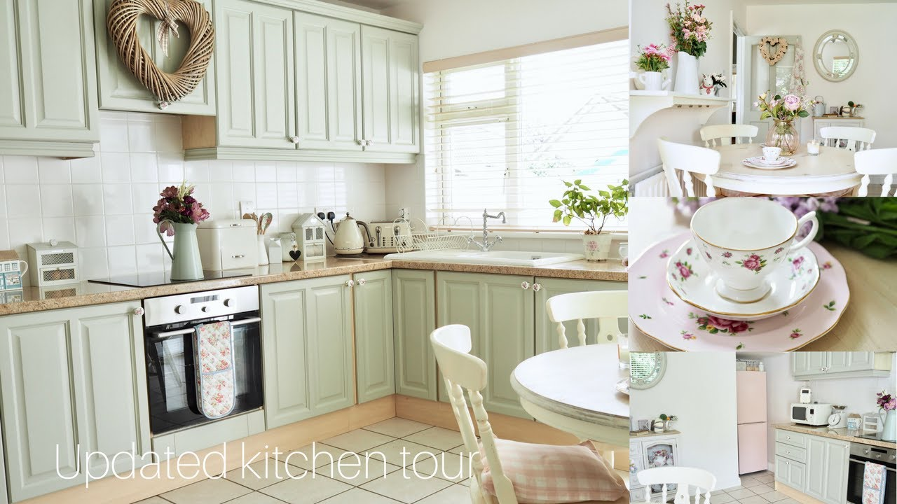 Kitchen tour Shabby chic and cottage style decor  YouTube