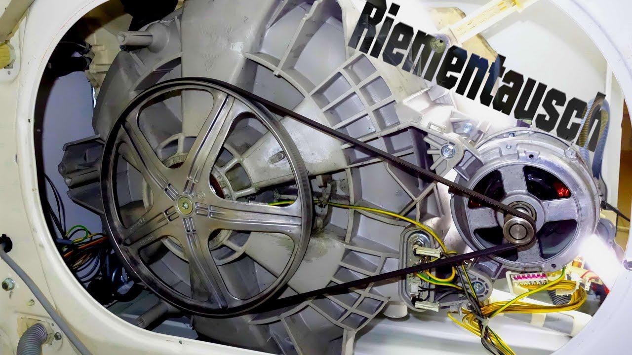 waschmaschinen antriebsriemen selbst tauschen youtube