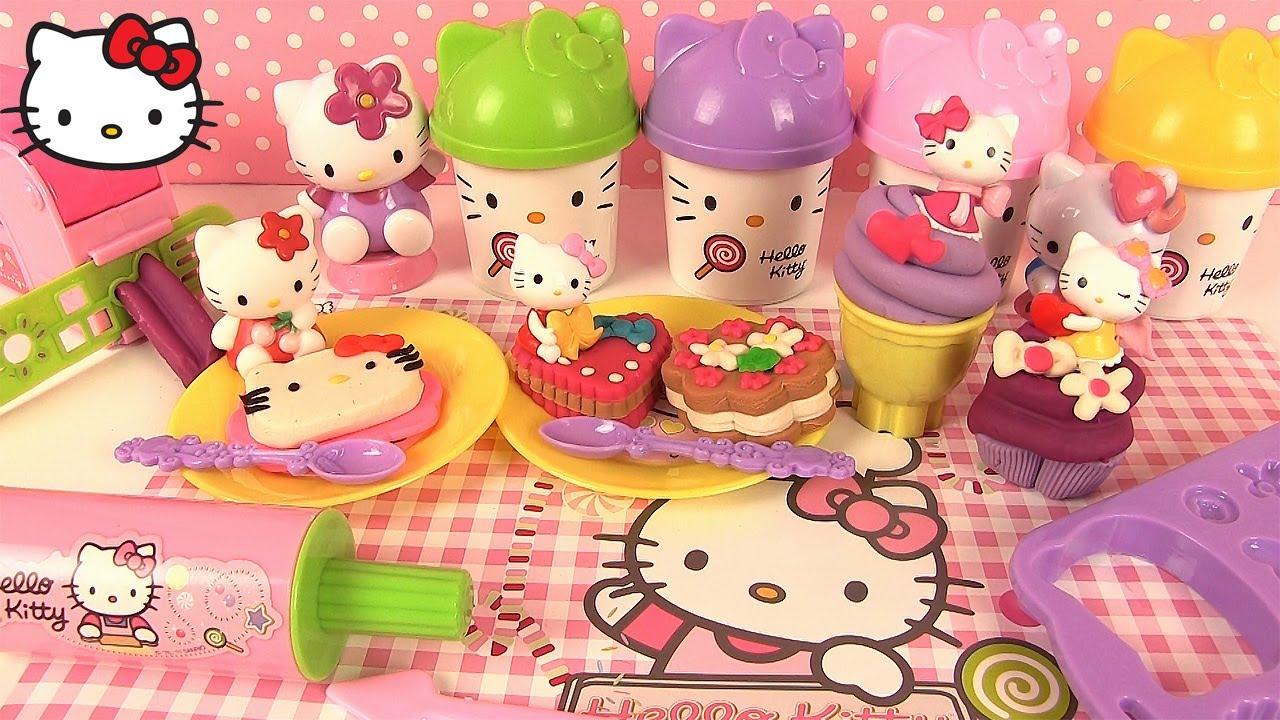 Pate A Modeler Hello Kitty Gateaux Glace Cupcake Maxi Coffret