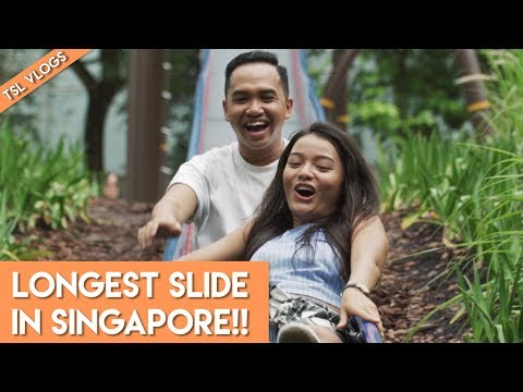 LONGEST SLIDE IN SINGAPORE! | TSL VLOGS
