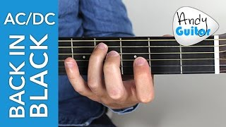 AC/DC - Back in Black Guitar Lesson Tutorial - Part 2 Fast Riff
