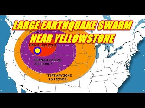 LARGE EARTHQUAKE SWARM UNLEASHING NEAR YELLOWSTONE SEPT. 4TH 2017
