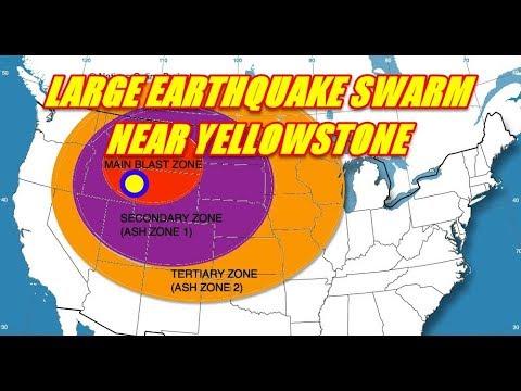 LARGE EARTHQUAKE SWARM UNLEASHING NEAR YELLOWSTONE SEPT. 4TH 2017