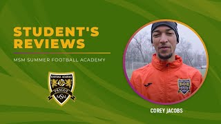 Corey Jacobs MSM Football Academy, February 2018