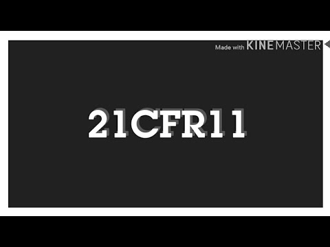 What is 21 CFR PART 11 ?