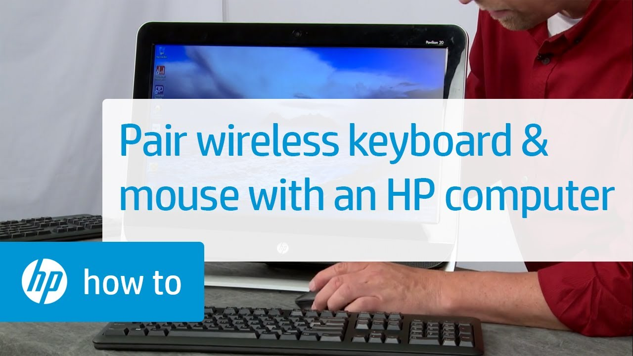 174b8bd0076 Pairing a Commercial Wireless Keyboard and Mouse with an HP Computer | HP  Computers | HP - YouTube
