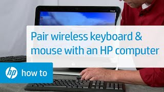 Pairing a Commercial Wireless Keyboard and Mouse with an HP Computer