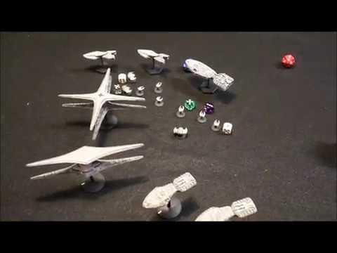 Battlestar Galactica Space Battle Colonial Fleet vs Cylons Batrep