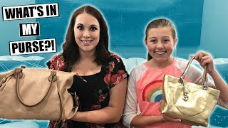 WHAT'S IN MY PURSE?! TEEN PURSE vs MOM PURSE
