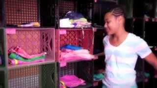 Sisters Batiya and Vaniya model their new clothes in Miss Mary's Closet