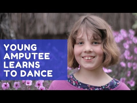 Amputee learns to dance