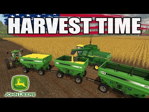 FARMING SIMULATOR 2017   AMERICAN CORN + WHEAT HARVEST   EP. #20