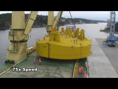 Jumbo Shipping: Discharge of 4 Spud Cans in the waters of Arendal (Norway)