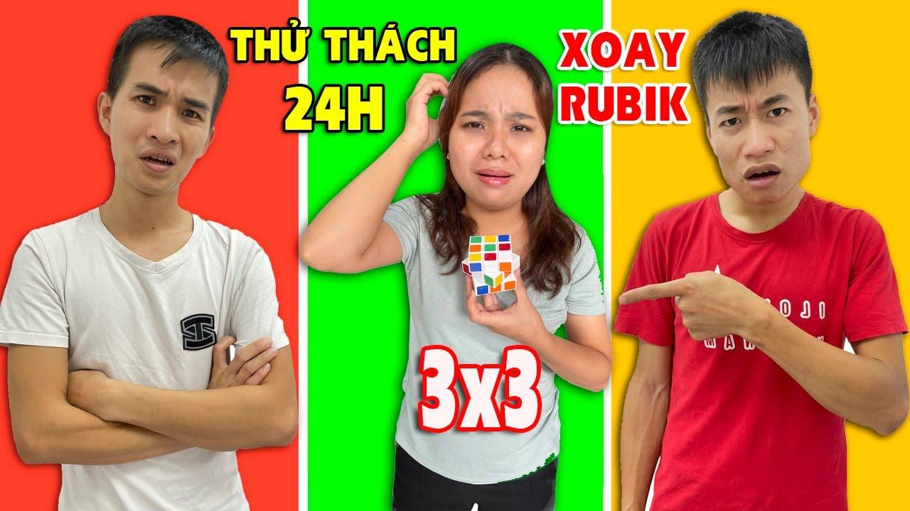 Linh Nhi Thử Thách 24h Học Xoay Rubik 3x3...Và Cái Kết Bất Ngờ!!!