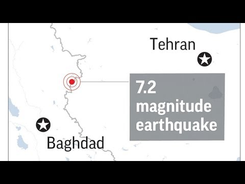 The Latest Iran TV says 200 killed in quake on Iraq border