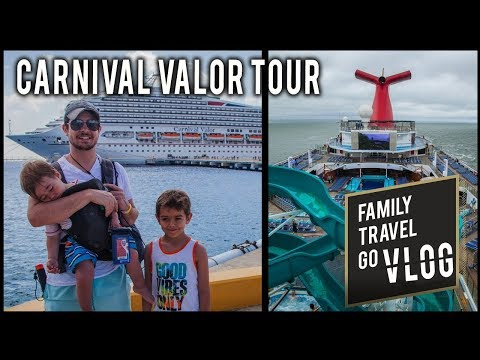 Carnival Cruise with Kids - Tour Around the Carnival Valor Cruise Ship