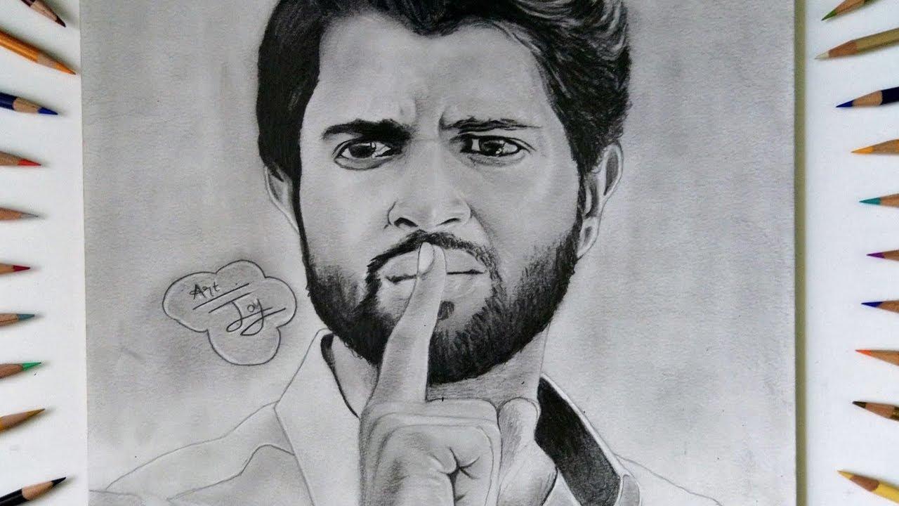 Vijay Devarakonda Step By Step Pencil Drawing Part 1 Youtube