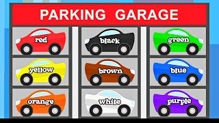 Cars Trucks Street Vehicles Teaching Colors - Learning Colours Video for Children - Organic Learning