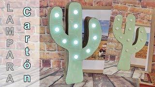 Como hacer una lámpara en forma de Cactus reciclando cartón