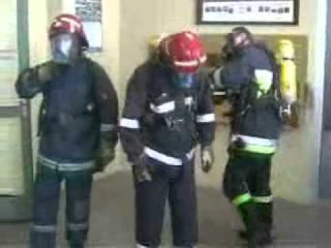 Ćwiczenia JRG 1 I JRG 2 W Olsztynie - Ewakuacja Poszkodowanego Strażaka