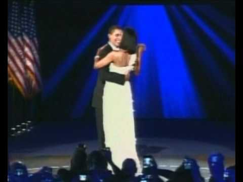Barack and Michelle Obama inauguration dance