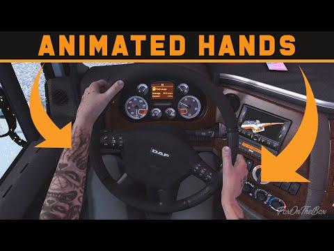 ETS2 1.39 Animated Hands On Steering Wheel Mod | Euro Truck Simulator 2 Mod