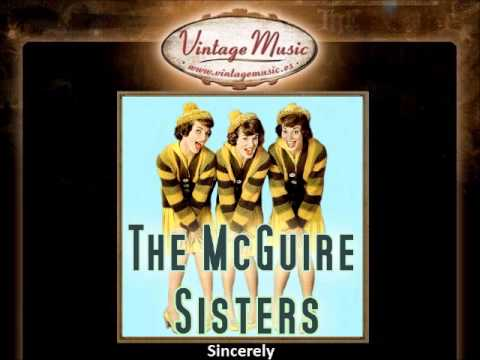The McGuire Sisters -- Sincerely