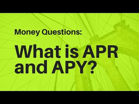 Difference between APR and APY? COMPOUND INTEREST!