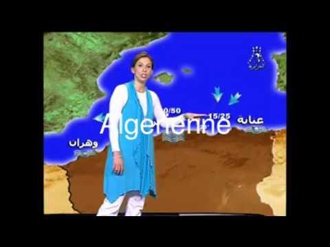 Algérie : Une presentatrice meteo Algerienne VS Italienne (Insolite DZ 2011)