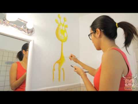 Art How To Paint Bathroom Wall With Little Cute