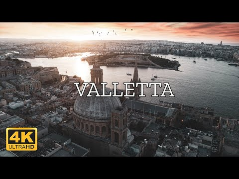 Valletta, Malta 🇲🇹   4K Drone Footage