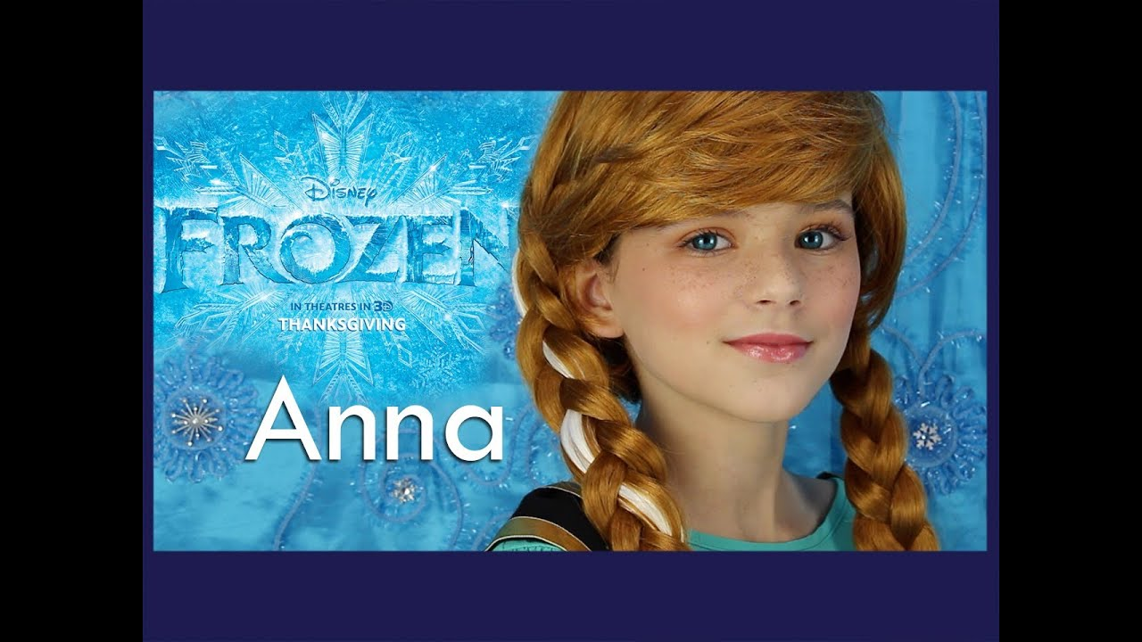 Disney 39 s frozen anna makeup tutorial kittiesmama youtube - Frozen anna disney ...