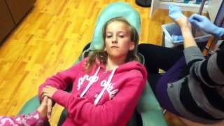 Me getting my cartilage pierced!!!