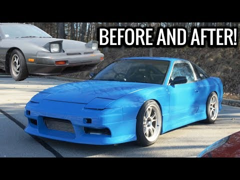 2JZ 240sx Build in 10 minutes - Before and After of BLUEJZ!