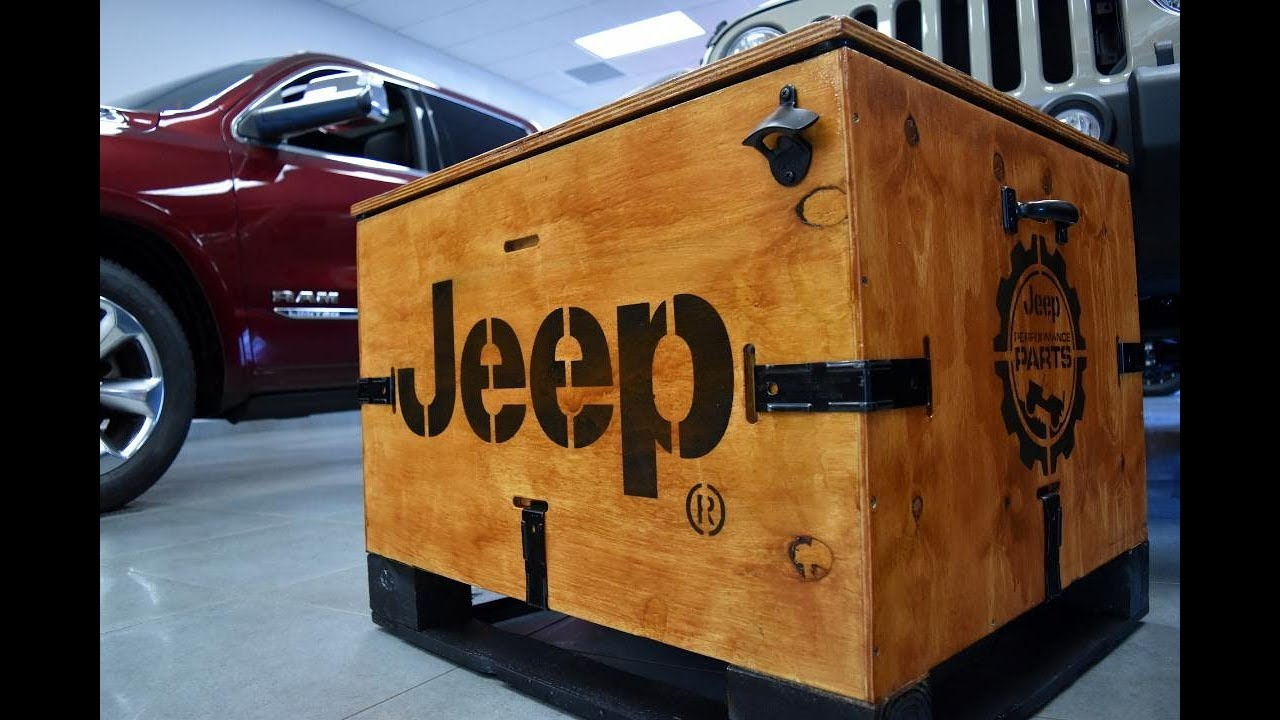 Jeep Lift Kit crate refinishing and re-purposing pool storage box