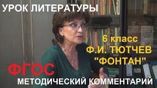 Гимназия № 505 СПБ 6 класс Литература Тютчев Фонтан Шкурова Т.Е.