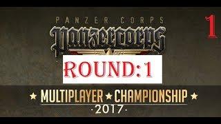 2017 Panzer Corps Multiplayer Championship: Round 1 - THG vs Bluefin (Part 1)
