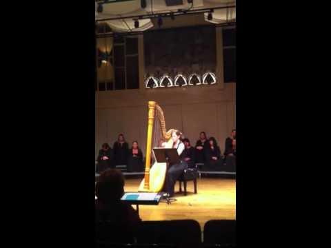 Allison Allport Playing Harp at CSUN