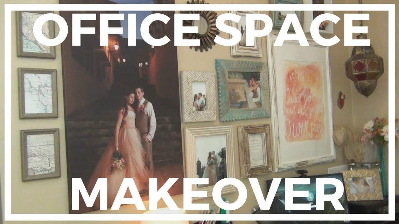 Office Space Makeover ♥ My Small Space Office - YouTube