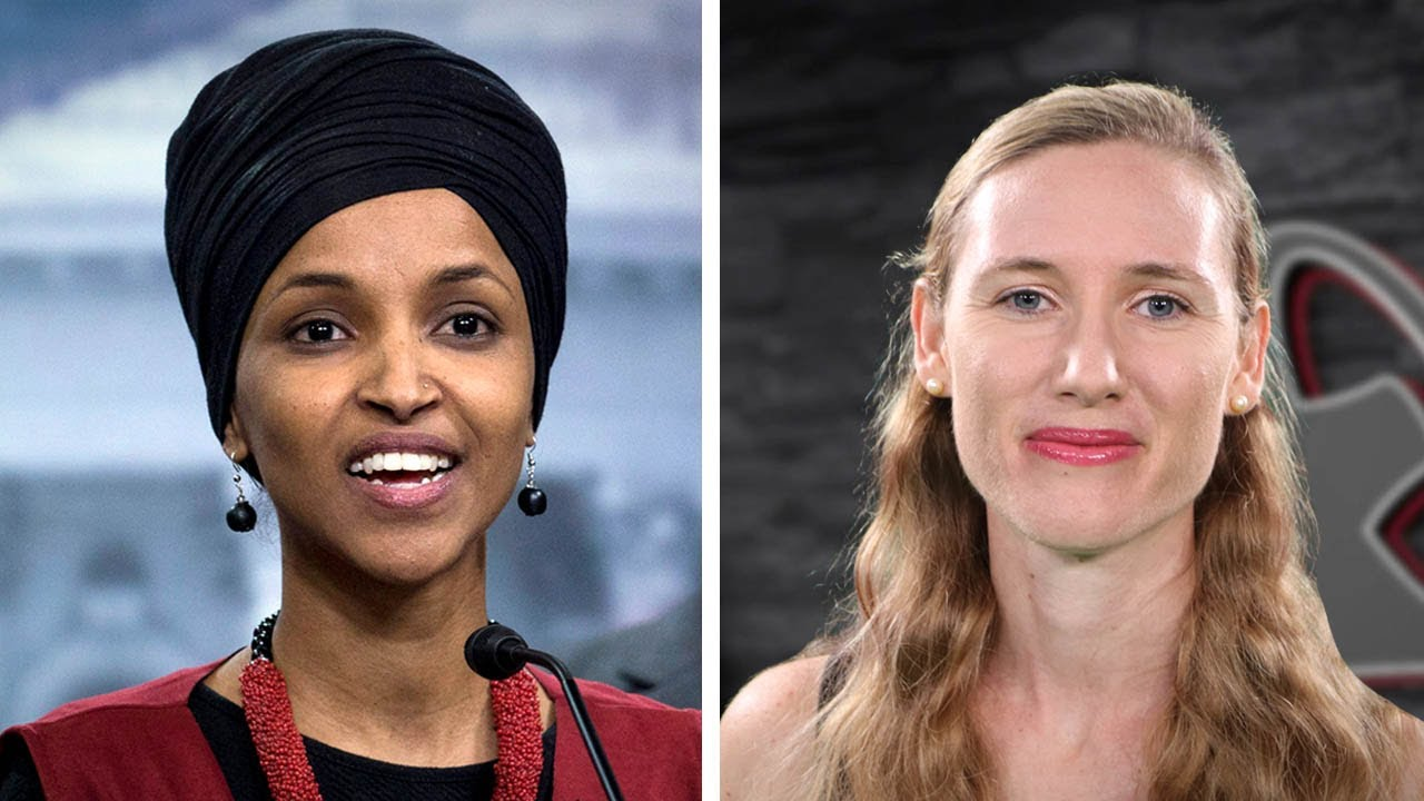 Ilhan Omar laughs during speech on American causalities in Iraq war | Abagail Hamman